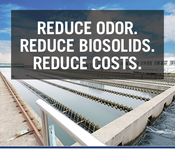 Reduce Odor. Reduce Biosolids. Reduce Costs.